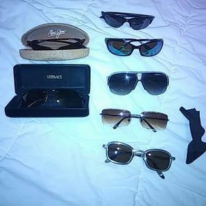 Bundle of 7 sunglasses Versace,Maui jim,costa del,